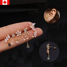1PC Ear Cartilage Helix Piercing Jewelry Screw Back Stud dangle earring woman