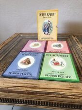 Peter Rabbit Pop Up Books Beatrix Potter 1986 Set Of 4 With Sleeve