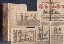 Kern Anmuthiger Kunst-Stücke der Wissenschafft 1744 Holzschnitte RAR! Technik