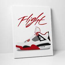 Nike Air Jordan Flight Fire 4's Gallery Canvas 11in x14in