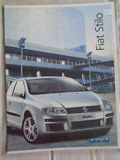 Fiat Stilo range brochure Nov 2004