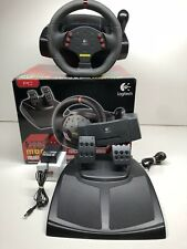 Logitech MOMO Racing Force Feedback PC Steering Wheel USB w/ Pedals IN BOX LOOK!