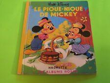 Le Pique-nique de Mickey * albums roses Hachette Walt Disney (1972) French book