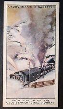 Norway  Oslo Bergen Line   Railway Snow Plough  Original Vintage Card # VGC