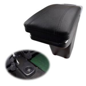 Black Rotatable Armrest Box For Renault Captur 2013-2017 Storage Store