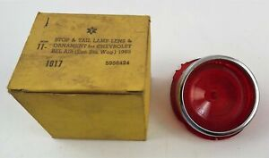 Chevrolet Bel Air 1965 Stop & Tail Lamp Lens Ornament NOS 5956424 new old stocK