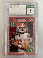Trevor Lawrence 2021 Leaf Pro Set Rookie Card RC #PS1 CSG 9 Mint