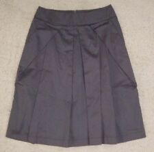 Cue Above Knee Pleated Solid Skirts for Women
