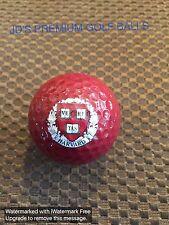 LOGO GOLF BALL-NCAA....HARVARD UNIVERSITY.....BURGANDY/MAROON BALL....NEW!