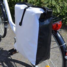 Fahrradtasche LKWplane spritzwassergeschützt Gepäckträgertasche Gepäcktasche wei