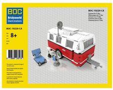 LEGO Roter Camping Anhänger 980 Teile LEGO 10220 VW Bulli T1 Bus Camper Caravan