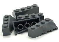 Lego 5 New Dark Bluish Gray Wedge 4 x 2 Sloped Left Pieces
