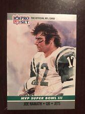 1990 Pro Set Super Bowl MVP's #3 - Joe Namath - New York Jets (Super Bowl III)