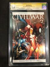 Civil War #2 Variant CGC SS 9.6 Signed by Michael Turner