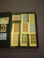 16 Page Hardback Stockbook Album of Stamps Blocks Traffic Lights Part Sheets
