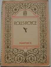 Rolls Royce Phantom III 1937-38 Original Spiral Bound UK Sales Brochure