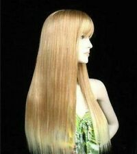 FIXSF34  charming long mixed golden blonde health part Wig hair wigs for women