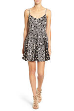 $56 Socialite Mixed Print Fit & Flare Slipdress - Size Small