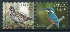 Latvia Birds on Stamps 2020 MNH Kingfishers Hazel Grouse Fauna 2v Set
