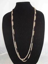 Kenneth Cole New York Goldtone JET JEWELS Black Bead Long Station Necklace $48