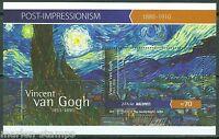 MALDIVES 2015 POST IMPRESSIONISM VINCENT van GOGH SOUVENIR SHEET MINT NH