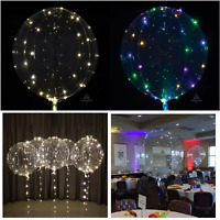 """New Clearz 18"""" Bubble Balloon LED Light Up Decoration Birthday Wedding Party"""