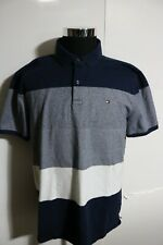 Tommy Hilfiger Men Short Sleeve color block Custom Fit smooth Polo Shirt  XL