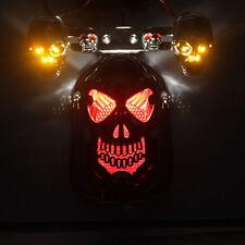 UNIVERSAL MOTORBIKE MOTORCYCLE  LED TAIL BRAKE TURN INDICATOR REAR LIGHT SKULL