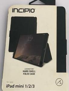 Incipio Lexington Hard Shell Folio Case for iPad Mini 1/2/3 Black and Pink