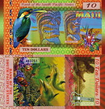 SOUTH PACIFIC STATES - MAUI 10 dollars 2015 Polymer FDS UNC