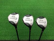 NICE Snake Eyes Golf QUICK STRIKE Q4M 3 5 7 WOOD SET Right RH Graphite REGULAR