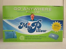 "MY PILLOW GO ANYWHERE PILLOW TRAVEL SIZE 12"" x 18"" w/ PILLOWCASE BLUE - NT 7522"