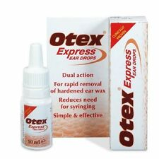 Otex Express Ear Drops Dual Action Treat Hardened Ear Wax - 10ml
