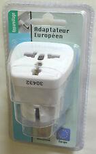 50 TIBELEC 641510 UK -EU EURO EUROPE TRAVEL ADAPTOR ADAPTER 3 TO2 PIN PLUG SKU:V