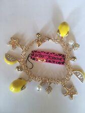 """Betsey Johnson ADJUST 7""""-9"""" Lemon Bracelet W-SLICES, STARFISH, & MORE-BJ40076"""