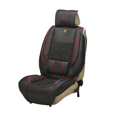1x Universal PU Leather Car Front Seat Covers Protective Cover Waterproof Black