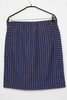 NOA NOA Blau & Braun Gestreift Rock Skirt Gr. XL