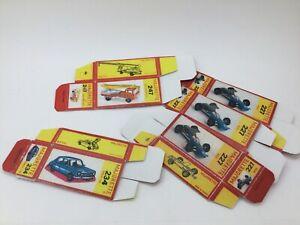 Majorette - boites carton 1972 x5