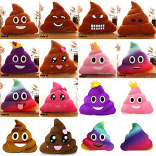 New Super Emoji Poop Plush Toy Pillow Cushion Home Living Decor for Bed Car