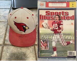 Pat Tillman Arizona Cardinals Autograph Hat & Sports Illustrated Cover Graded 9