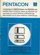 Pentacon Bedienungsanleitung Zwischenringe #su