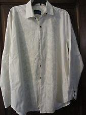 M Medium TOMMY BAHAMA Off White long sleeve shirt Cotton SILK blend Hawaiian