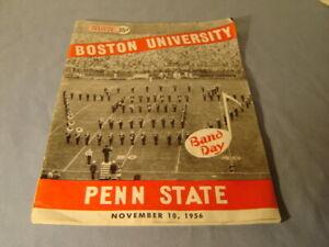 Vintage 1956 Boston University VS Penn State Band Day Football Program