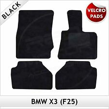 BMW X3 F25 2010-2017 Velcro Pads Tailored Fitted Carpet Car Floor Mats BLACK