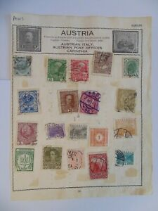 PA 413 - Double Sided Page Of Mixed Austria Stamps