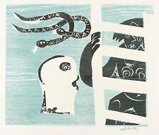 HAP Grieshaber - Sintflut - Color Woodcut 1972