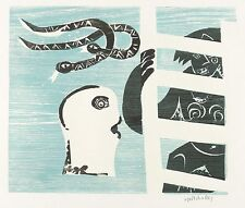 Hap Grieshaber-DILUVIO-farbholzschnitt 1972