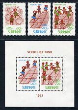SURINAM 1993 Kinderspiele Children Games Kinder 1461-64 + Bl.61 ** MNH
