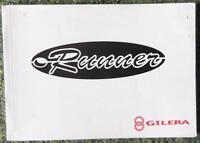 GILERA RUNNER MOPED OWNER'S HANDBOOK 1990'S?