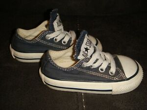 CONVERSE ALL STAR OX PUMPS CANVAS TRAINERS - BLUE -SIZE 4 UK INFANT TODDLER -K52